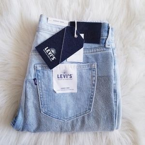 Levi's Slouchy Tapered High Rise Patch Work Jeans